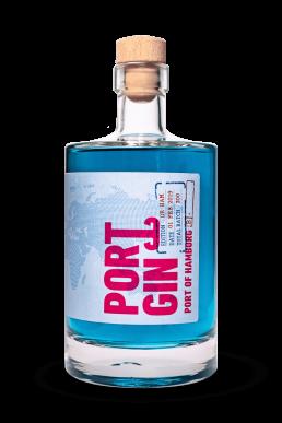 Ports of Portgin - Portgin - Port of Hamburg 50 cl, blauer Gin aus 100% Natürliche Inhaltsstoffe.