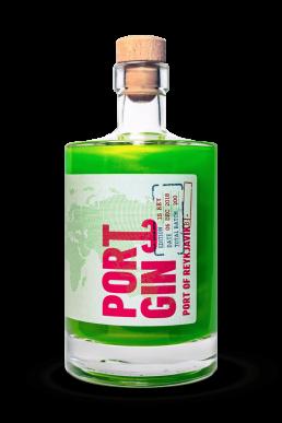 Ports of Portgin - Portgin - Port of Reykjavík 50 cl, grüner Gin in den die Nordlichter einfangen sind.