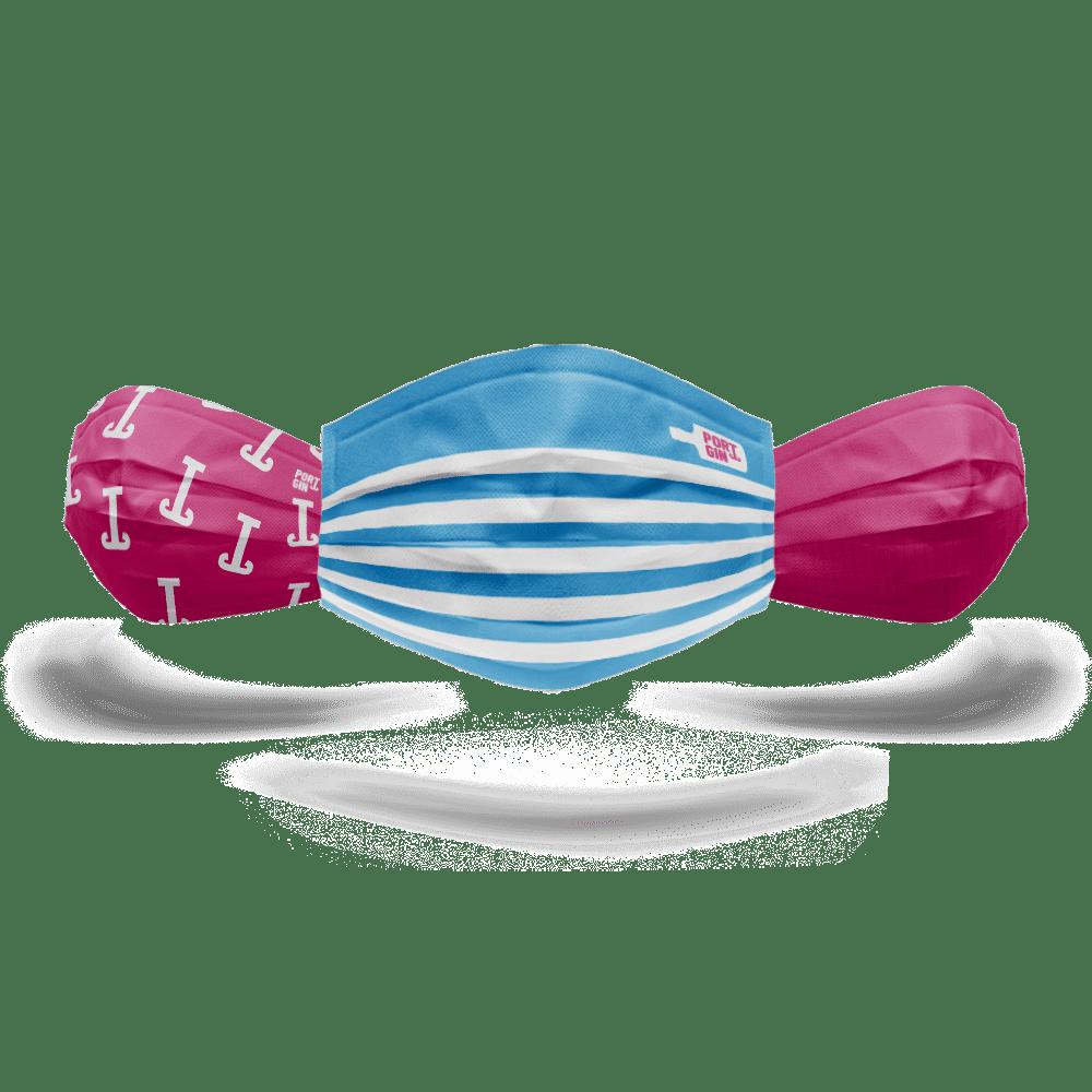 Portgin Shop Mund-Nasen-Maske Dreierset: Matrose, Ankerwelt, Netzanker